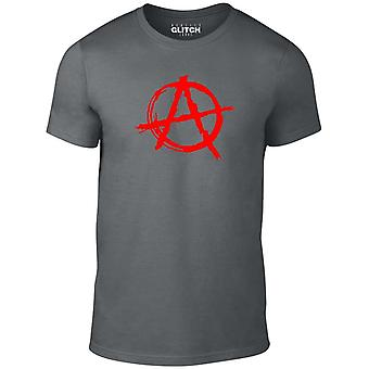 Men's anarchy symbol t-shirt