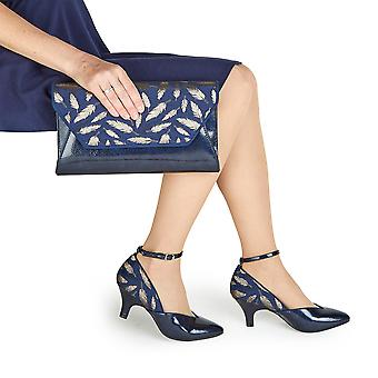 Ruby Shoo Women's Billie Ankle Strap Pointed Shoes & Matching Deia Bag