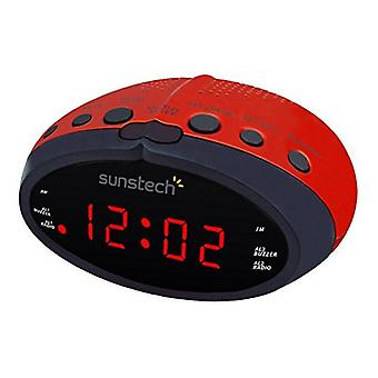 Ρολόι-Ράδιο Sunstech FRD16RD κόκκινο