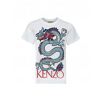Kenzo Bambini Jao Dragon Stampa Logo T-shirt
