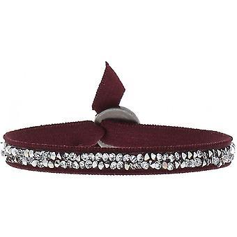 Bracelet interchangeable A24936 - fabric red woman Swarovski crystals Bracelet