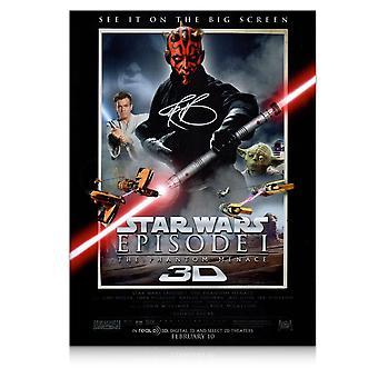 Darth Maul signeret Star Wars plakat: The Phantom Menace