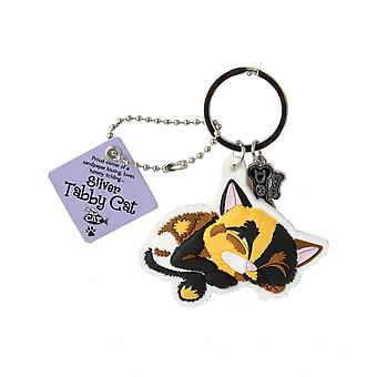 Wags & Whiskers Keyring - Calico Cat