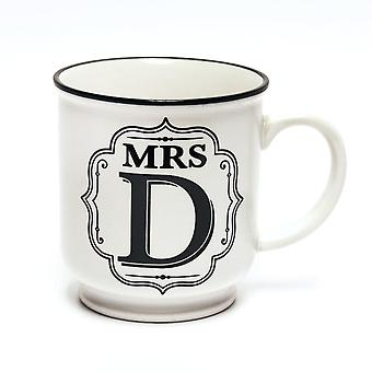 History & Heraldry Alphabet Mugs-mrs D