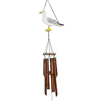 Seagull Silhouette Bamboo Wind Chime