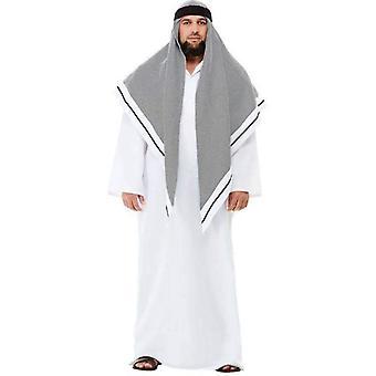Deluxe Fake Sheikh Kostüm Erwachsene weiß