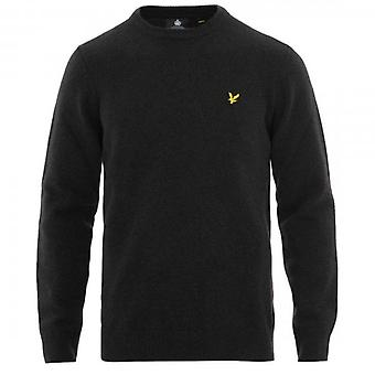 Lyle & Scott Charcoal Grey Crew Neck Lambswool Knit Jumper KN1118V