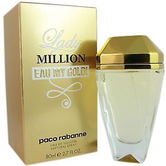 Lady million eau my gold for women by paco rabanne 2.7 oz eau de toilette spray