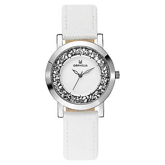 ORPHELIA Women Analogue Watch White Leather OR11700