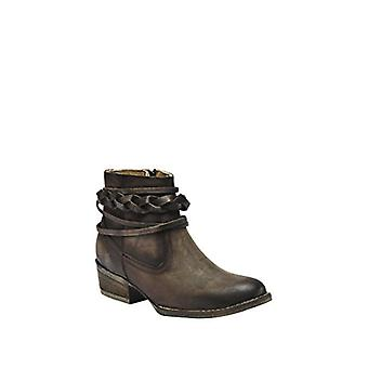 Corral Women's 4-inch Burnished Brown Top Strappy Round Toe Distressed Cowboy...