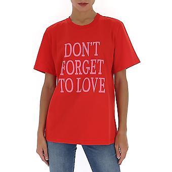 Alberta Ferretti 07011672j1115 Women's Red Cotton T-shirt