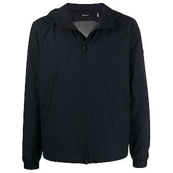 Ermenegildo Zegna Vu019zz078b09 Men's Blue Polyester Outerwear Jacket