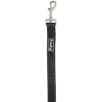 Freedog Black nylon reflective handle for your dogs