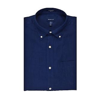 Gant Leinen regular Fit Shirt Marine