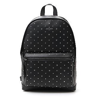 Jimmy Choo Wilmerysnblacksilver Men's Black Leather Backpack