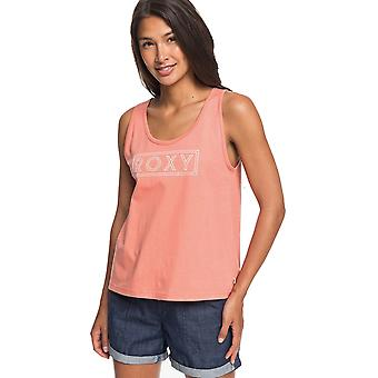 Roxy Closing Party Word Sleeveless T-Shirt in Terra Cotta