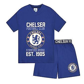 Chelsea FC Official Football Gift Boys Kids Korte pyjama