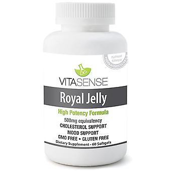VitaSense Royal Jelly 500 Mg - Restorative Tonic - 60 Softgels
