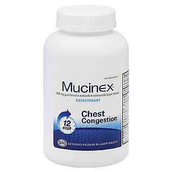 Mucinex expectorant, 600 mg, extended-release bi-layer, tablets, 500 ea