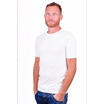 Alan Red T-Shirt Ottawa White (Two pack) ( stretch )