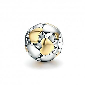Sterling Silver Charm Ball With Hearts - 5448
