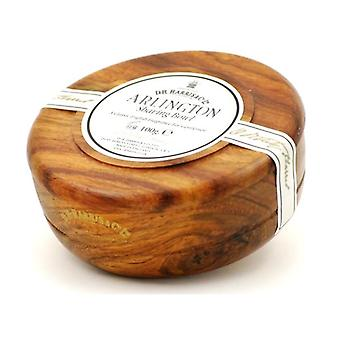 D R Harris Wooden Shaving Bowl + Soap 100g-Arlington-Mahogany effect