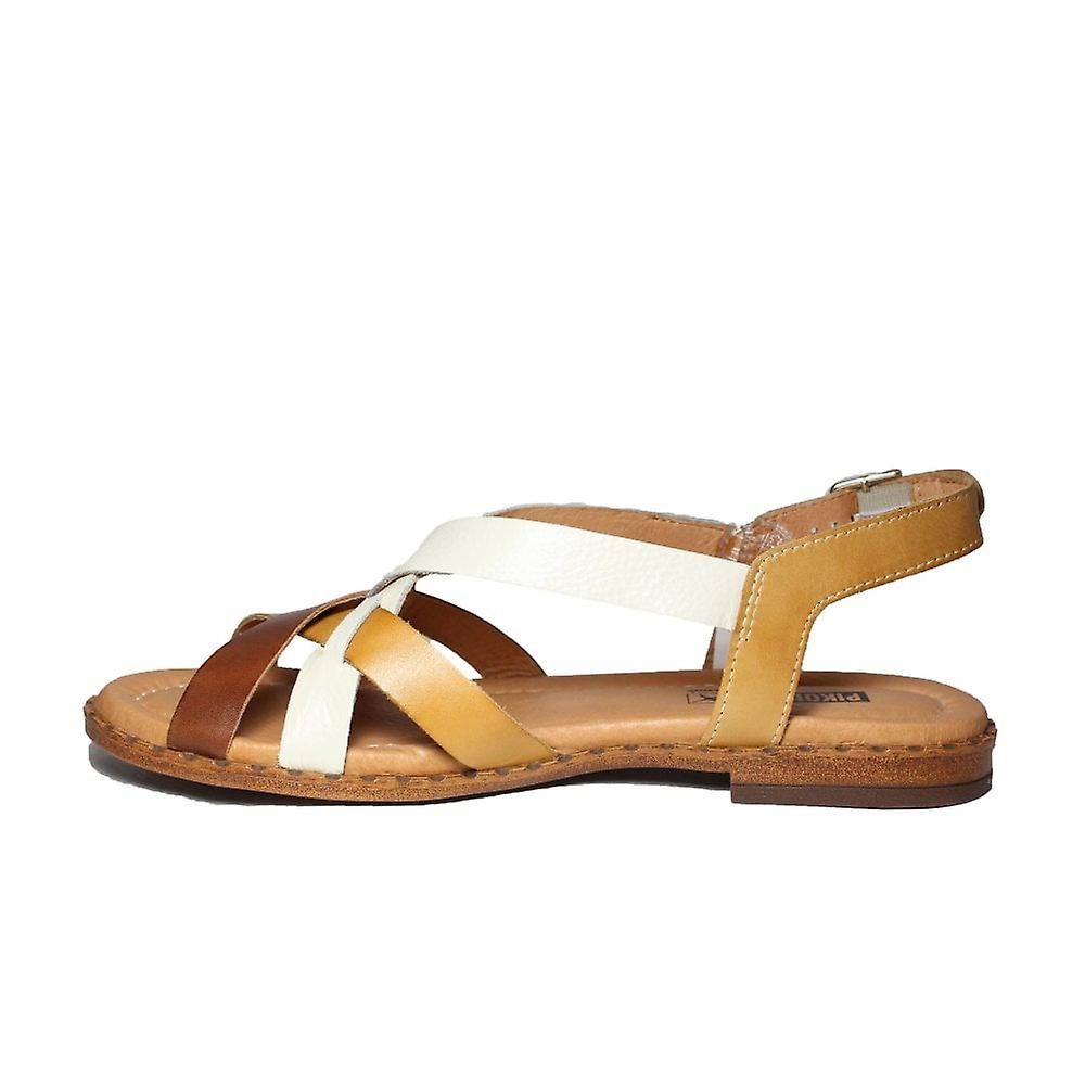 Pikolinos Algar W0X-0556C1 Honey Leather Womens Slingback Sandals