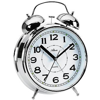 Atlanta 1649/19 alarm clock quartz silver Bell alarm clock twin Bell alarm clock light