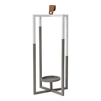 Grey & White Metal Farmhouse Lantern