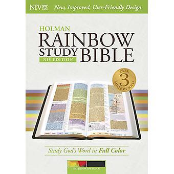 NIV Rainbow Study Bible - Kaleidoscope Black LeatherTouch by Holman B