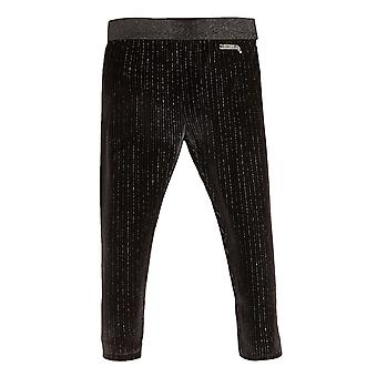Guess Girls' Glitter-Look Ribbed Pants