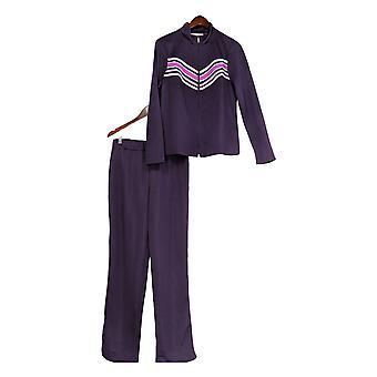 K Jordan Set Striped Zip Front Jacket & Pants True Red