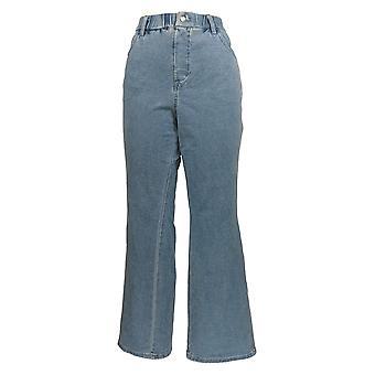 Quacker Factory Women's Petite Jeans DreamJeannes Boot Cut Leg Blue A272892