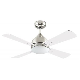 Ceiling fan Borneo Satin Nickel with Light 106cm / 42""