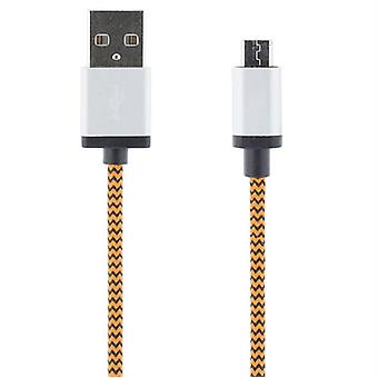 USB sync/laderkabel, 1m, oranje
