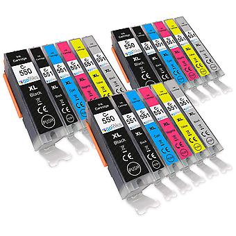 3 Satz von 6 Tintenpatronen, um Canon PGI-550 & CLI-551 kompatibel/nicht OEM von Go Tinten (18 Tinten) zu ersetzen