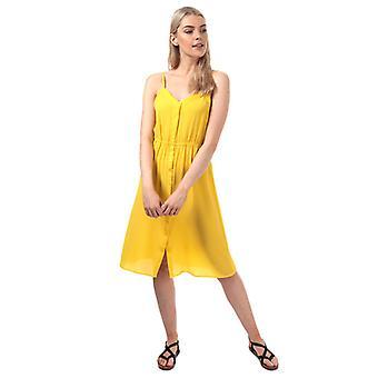 Women's Vero Moda Sasha Midi Dress in Yellow