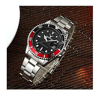 Genuine Deerfun Homage Watch Black Red Silver Date Watches Top Quality Oyster