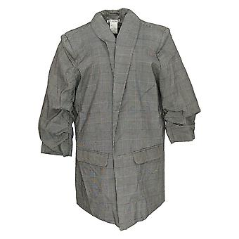 K Jordan Women's Plus Suit Jacket / Blazer Plaid Gray / Black