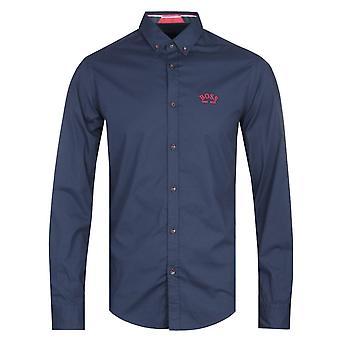 Boss Biado Long Sleeve Navy Shirt