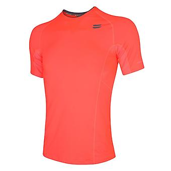 TribeSports Män & s SS Run Top Fire Red Large