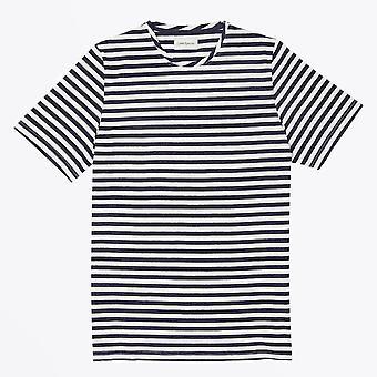 Oliver Spencer  - Conduit Stripe T-shirt - Navy