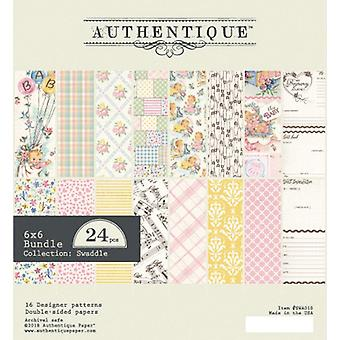 Authentique Swaddle Girl 6x6 Inch Paper Pad