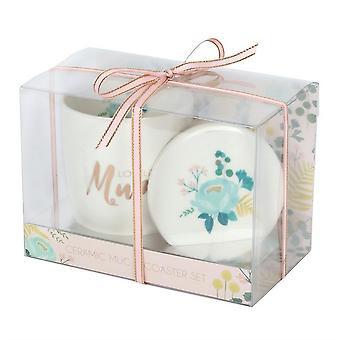 Something Different Loveliest Mum Mug And Coaster Set