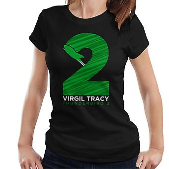 Thunderbirds Virgil Tracy Thunderbird 2 Number Graphic Women's T-Shirt