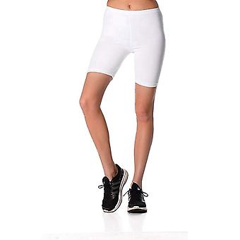Womens Cotton Sports Cropped Gym Running Cycling Shorts