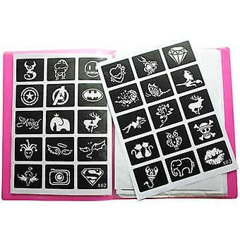 Reusable Sticker Tattoo Stencils With Folder,painting Template - Album Fixed