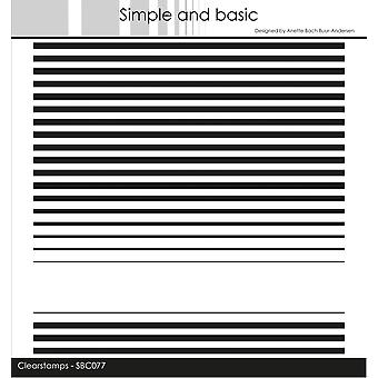 Simple and Basic Stripes Clear Stamps
