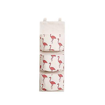 3 Pockets Hanging Storage Bag White