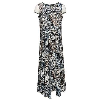 Attitudes by Renee Petite Dress Printed Maxi Dress Sleeveless Black A375422